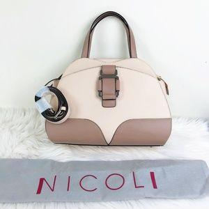 Nicoli made in Italy Leather satchel Handbag  NWT